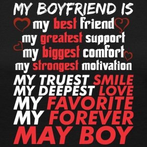 My Boyfriend Is May Boy - Women's Premium Long Sleeve T-Shirt