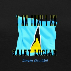 Saint Lucian Sticker - Women's Premium Long Sleeve T-Shirt