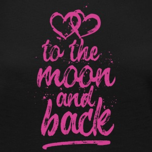 Love you To the moon and back - pink - Women's Premium Long Sleeve T-Shirt