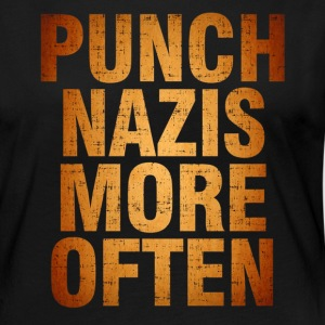 Punch More Nazis Shirt Pre - Women's Premium Long Sleeve T-Shirt