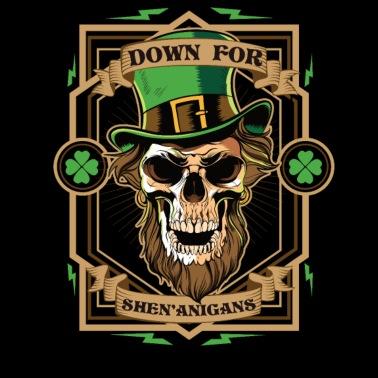 a77be6f7b St Patricks Day Leprechaun Skull Shenanigan - Women's Premium Longsleeve  Shirt