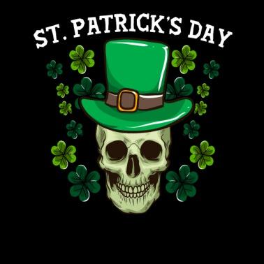 d8e00919b Green St Patrick's Day Skull With Top Hat Gift - Women's Premium Longsleeve  Shirt