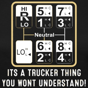 Trucker - trucker truck driver gear shift patter