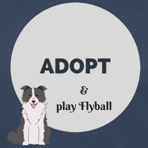 Border Collie - Adopt and play Flyball - Women's Premium Long Sleeve T-Shirt