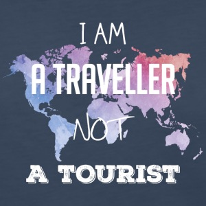 I am a traveller not a tourist - Women's Premium Long Sleeve T-Shirt
