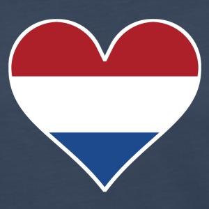 Dutch Flag Heart - Women's Premium Long Sleeve T-Shirt
