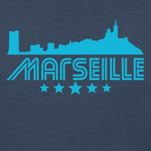 Retro Marseille Skyline - Women's Premium Long Sleeve T-Shirt