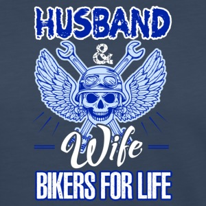Husband And Wife Bikers For Life Shirt - Women's Premium Long Sleeve T-Shirt