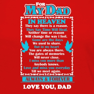 Dad In Heaven Shirt - Women's Premium Long Sleeve T-Shirt