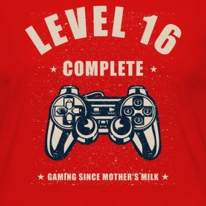 Level 16 Complete Video Gaming T Shirt - Women's Premium Long Sleeve T-Shirt