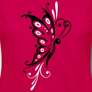 Big filigree butterfly, wings, girlie Tattoo style - Women's Premium Long Sleeve T-Shirt