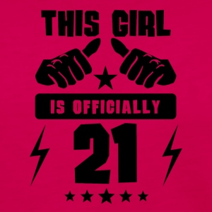 This Girl Is Officially 21 - Women's Premium Long Sleeve T-Shirt