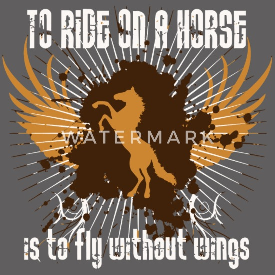 To ride on a horse is to fly without wings Women's Premium