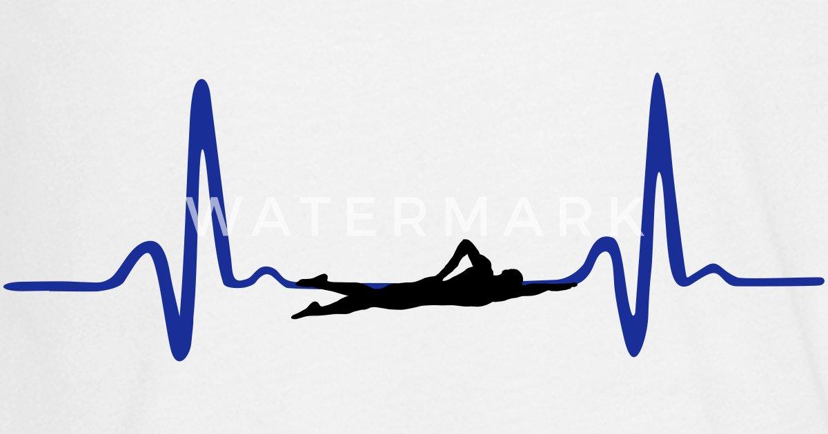 Heartbeat Line Art : Swimming swimmer heartbeat by csart spreadshirt