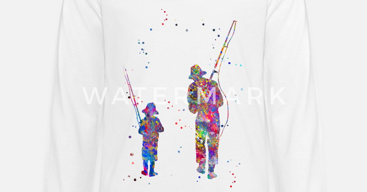 3572e96d Father and son fishing Kids' Premium Longsleeve Shirt | Spreadshirt