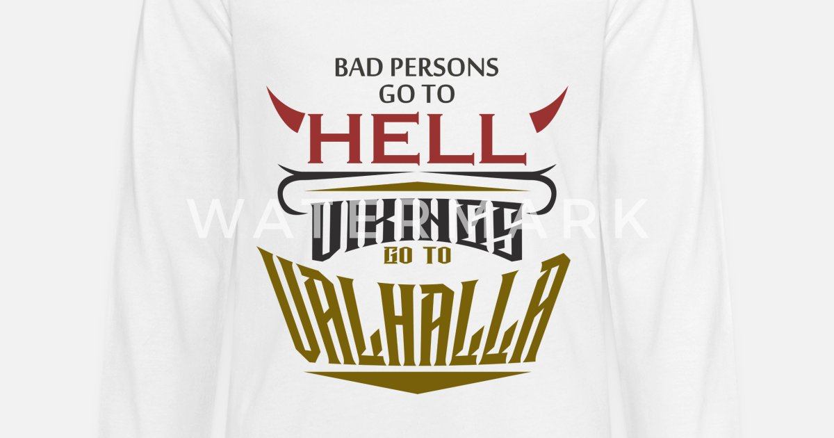19eec0520 Warrior Vikings Valhalla Thor Odin Hell Heaven Kids' Premium Longsleeve  Shirt | Spreadshirt