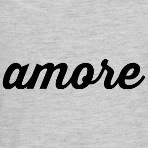 Amore - Cursive Design (Black Letters) - Kids' Premium Long Sleeve T-Shirt