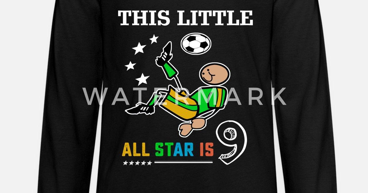daaacffb6bf Soccer tshirts for boys 9th birthday kids gift Kids' Premium Longsleeve  Shirt | Spreadshirt