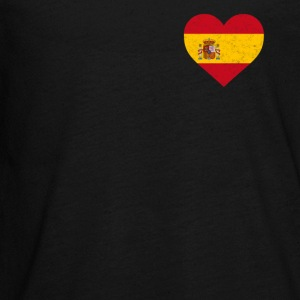 Spain Flag Shirt Heart - Spanish Shirt - Kids' Premium Long Sleeve T-Shirt