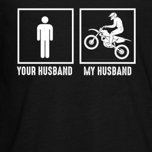 My Husband Loves Motorcycling - Kids' Premium Long Sleeve T-Shirt