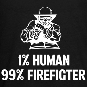 1% Human 99% Firefighter T Shirt - Kids' Premium Long Sleeve T-Shirt