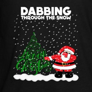 Cute Funny Dabbing Through the Snow - Kids' Premium Long Sleeve T-Shirt