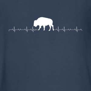 Bison heartbeat lover - Kids' Premium Long Sleeve T-Shirt