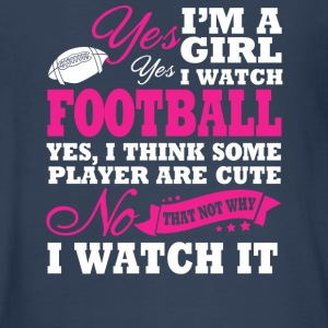 I'm A Girl, I Watch Football - Kids' Premium Long Sleeve T-Shirt
