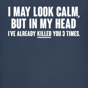 I MAY LOOK CALM - Kids' Premium Long Sleeve T-Shirt