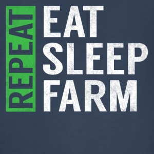 Eat Sleep Farm Repeat Funny Farmer Farming Gag - Kids' Premium Long Sleeve T-Shirt