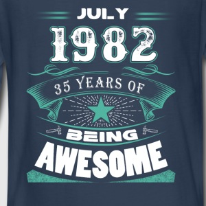 July 1982 - 35 years of being awesome - Kids' Premium Long Sleeve T-Shirt