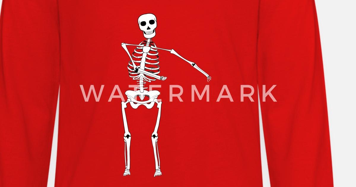 cd1d0d53d3e Swish Swish Dance Skeleton Kids  Premium Longsleeve Shirt