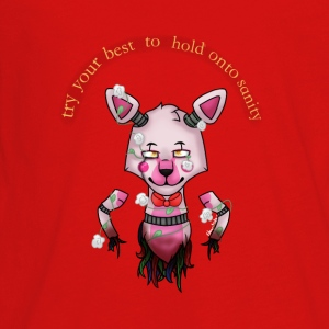 funtime foxy:Try your best to hold onto saninty - Kids' Premium Long Sleeve T-Shirt