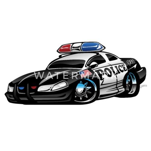 Police Muscle Car Cartoon By Hobrath Spreadshirt