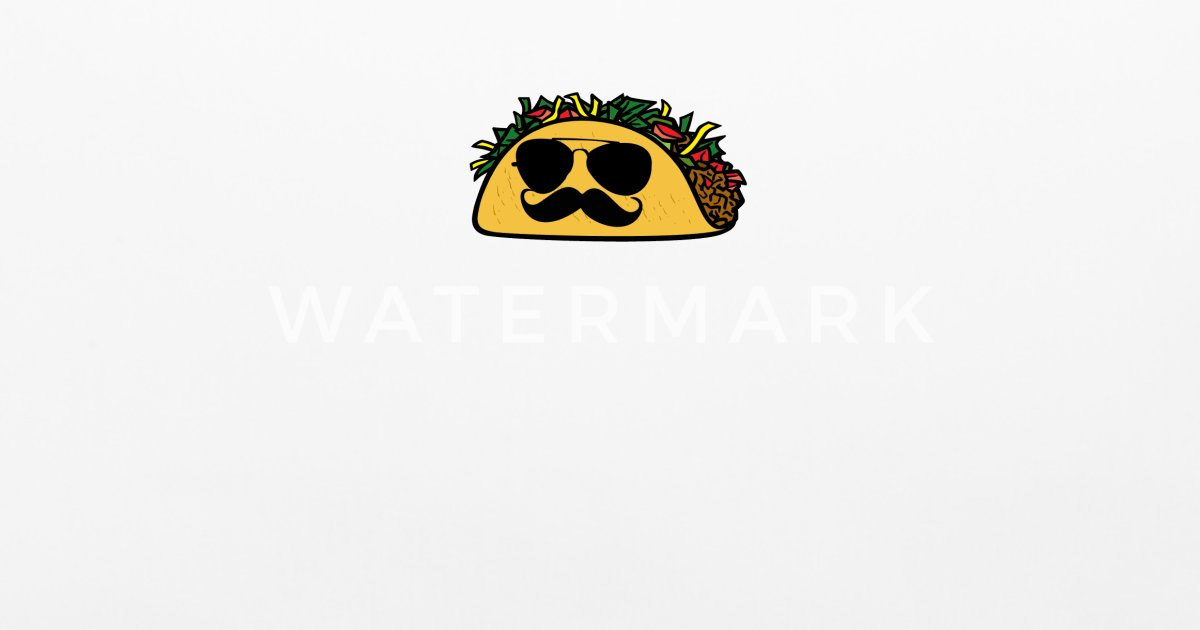 (Taco with mustache) Pillowcase 32'' x 20'' | Spreadshirt