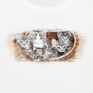 Basket full of kittens - Men's Premium Tank