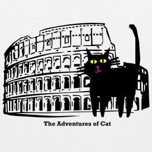 Cat Visits the Coliseum - Men's Premium Tank