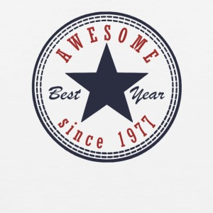 40th Birthday Awesome since T Shirt Made in 1977 - Men's Premium Tank