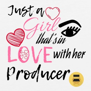 Just a girl that's in love with her producer - Men's Premium Tank