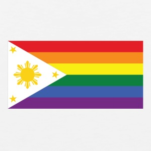 LGBT Gay Pride Rainbow Filipino Flag - Men's Premium Tank