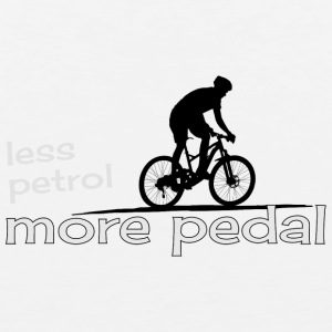 ecological cicling less petrol more pedal present - Men's Premium Tank