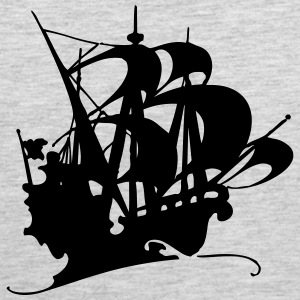 Pirate ship silhuette 3 - Men's Premium Tank
