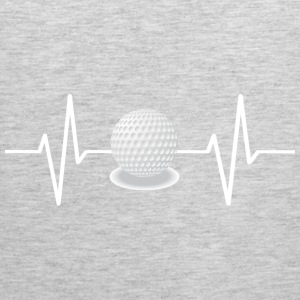 My heart beats for golf! gift - Men's Premium Tank