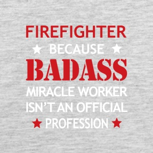 Firefighter Job Shirt/Hoodie Gift-Badass Worker - Men's Premium Tank