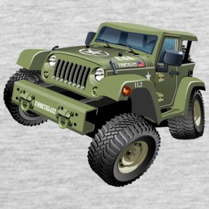 Military Jeep SUV Monster Truck car vector cartoon - Men's Premium Tank
