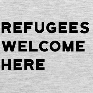 Refugees Welcome Here - Men's Premium Tank