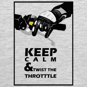 Keep calm and twist the throttle - Men's Premium Tank