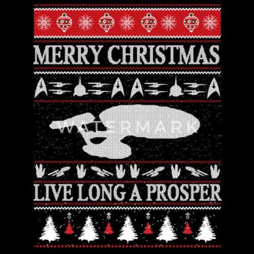Star Trek Star Trek Ugly Christmas Sweater F Mens Premium Tank Top