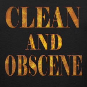 Clean and Obscene words3 - Men's Premium Tank
