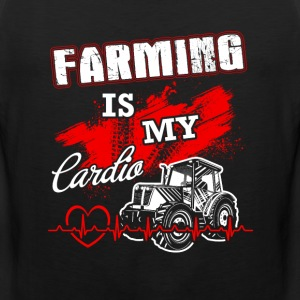 Farming is my lardio T Shirts - Men's Premium Tank
